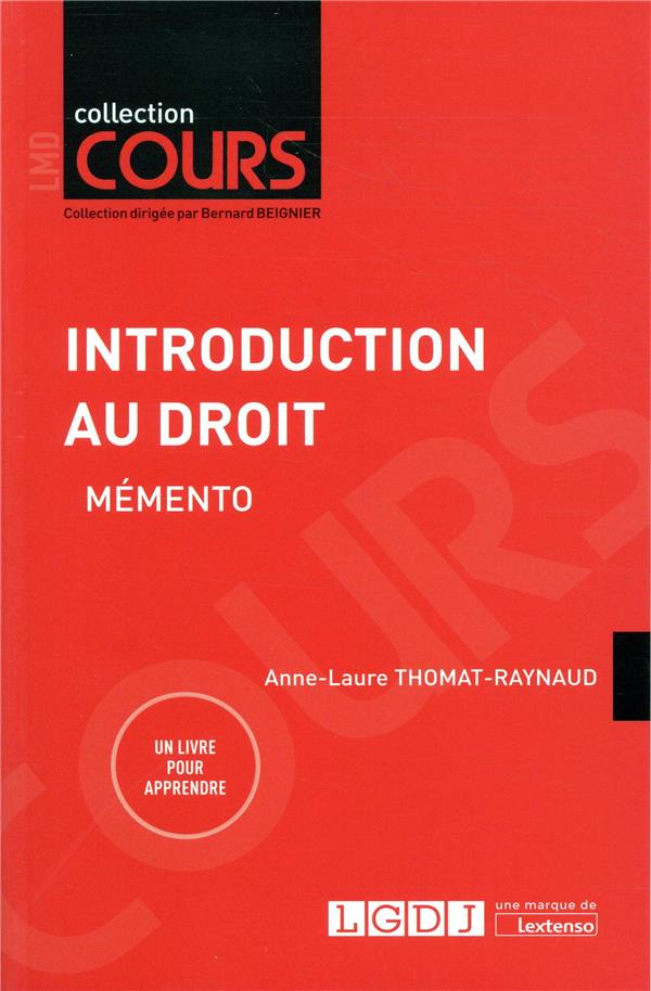 INTRODUCTION AU DROIT   MEMENTO